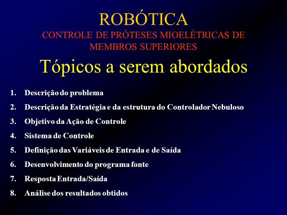 ROBÓTICA CONTROLE DE PRÓTESES MIOELÉTRICAS DE MEMBROS SUPERIORES