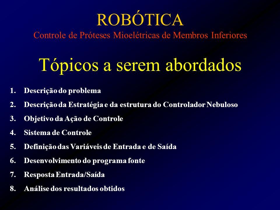 ROBÓTICA Controle de Próteses Mioelétricas de Membros Inferiores