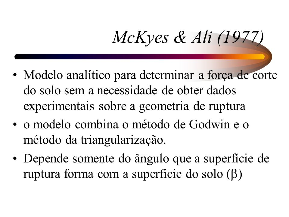 McKyes & Ali (1977)
