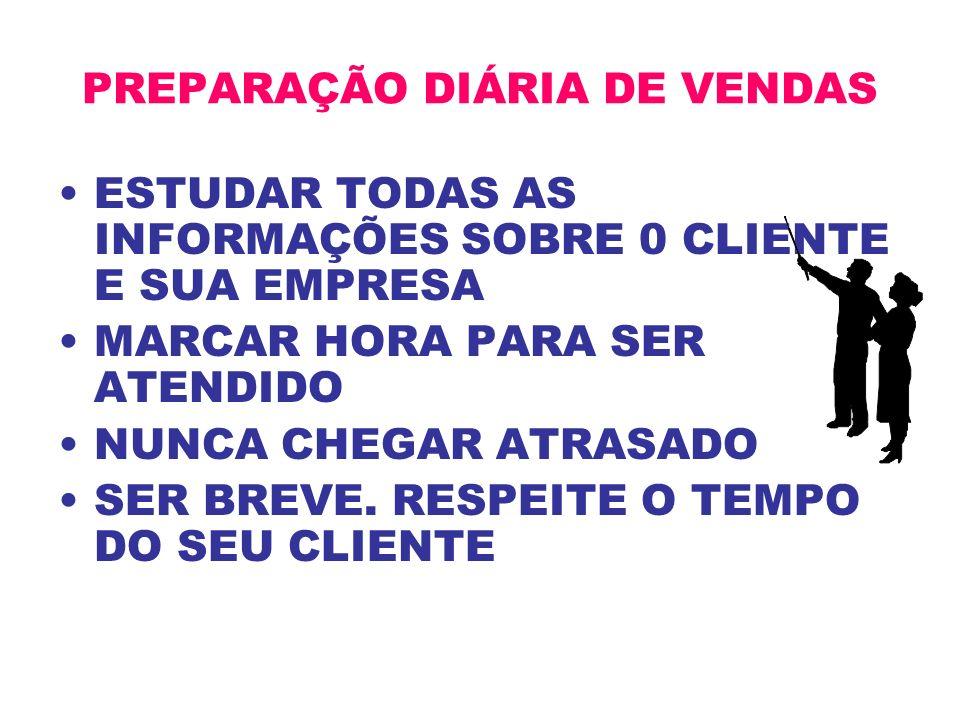 PREPARAÇÃO DIÁRIA DE VENDAS