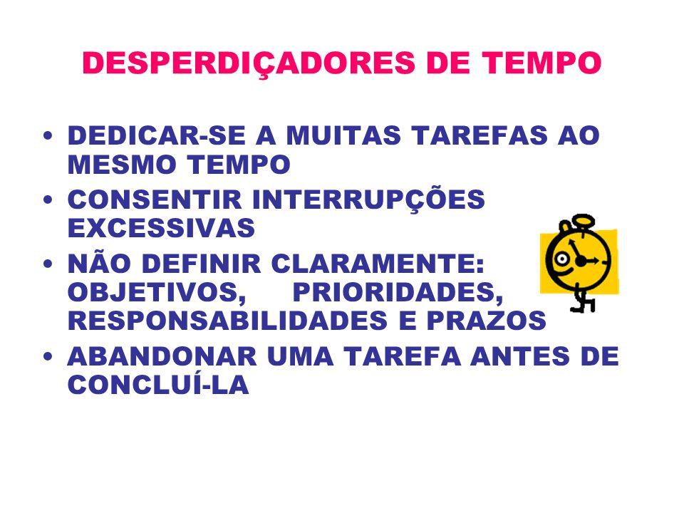 DESPERDIÇADORES DE TEMPO
