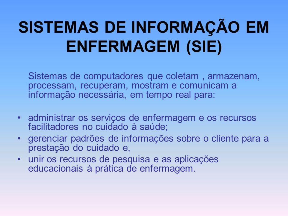SISTEMAS DE INFORMAÇÃO EM ENFERMAGEM (SIE)