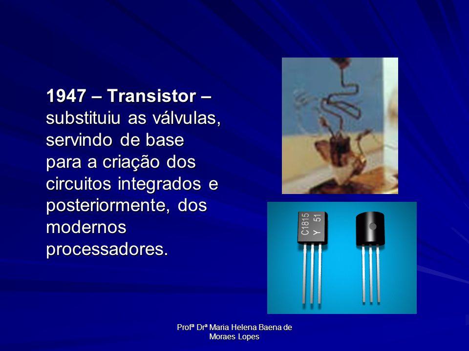Profª Drª Maria Helena Baena de Moraes Lopes