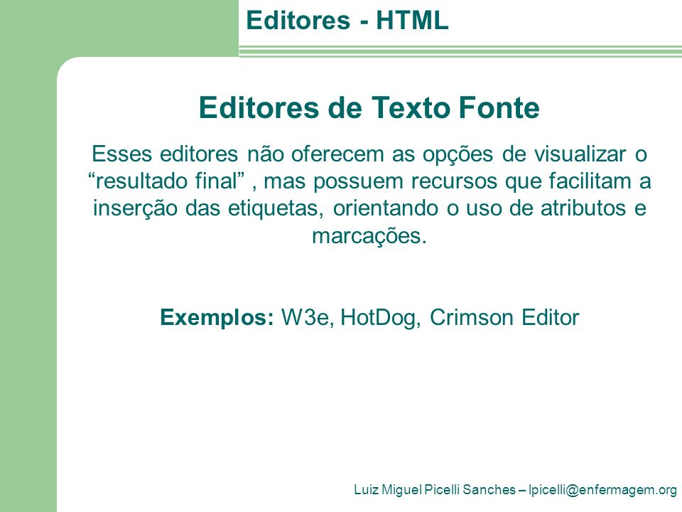 Editores de Texto Fonte