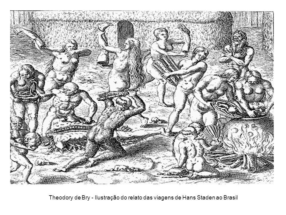 Theodory de Bry - Ilustração do relato das viagens de Hans Staden ao Brasil