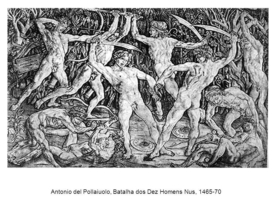Antonio del Pollaiuolo, Batalha dos Dez Homens Nus, 1465-70