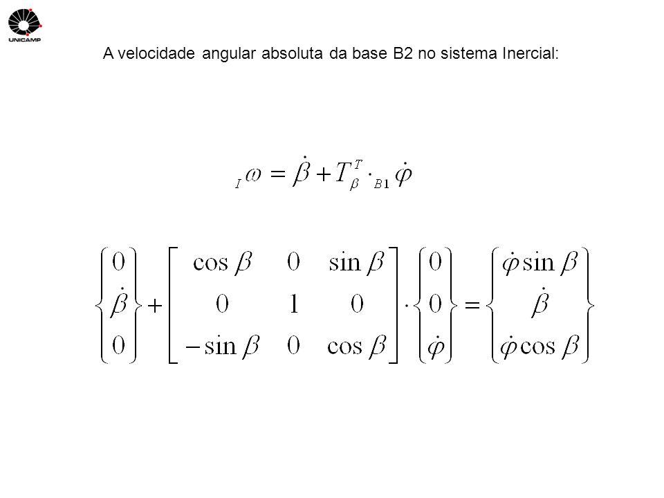 A velocidade angular absoluta da base B2 no sistema Inercial: