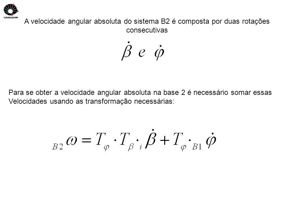 A velocidade angular absoluta do sistema B2 é composta por duas rotações consecutivas