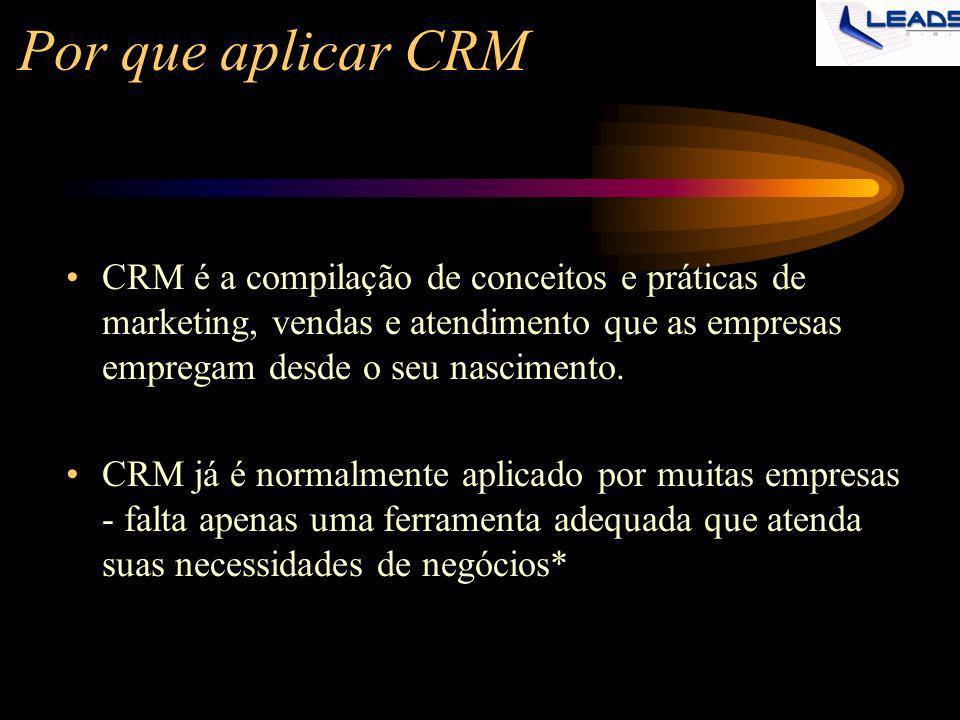 Por que aplicar CRM CRM é a compilação de conceitos e práticas de marketing, vendas e atendimento que as empresas empregam desde o seu nascimento.