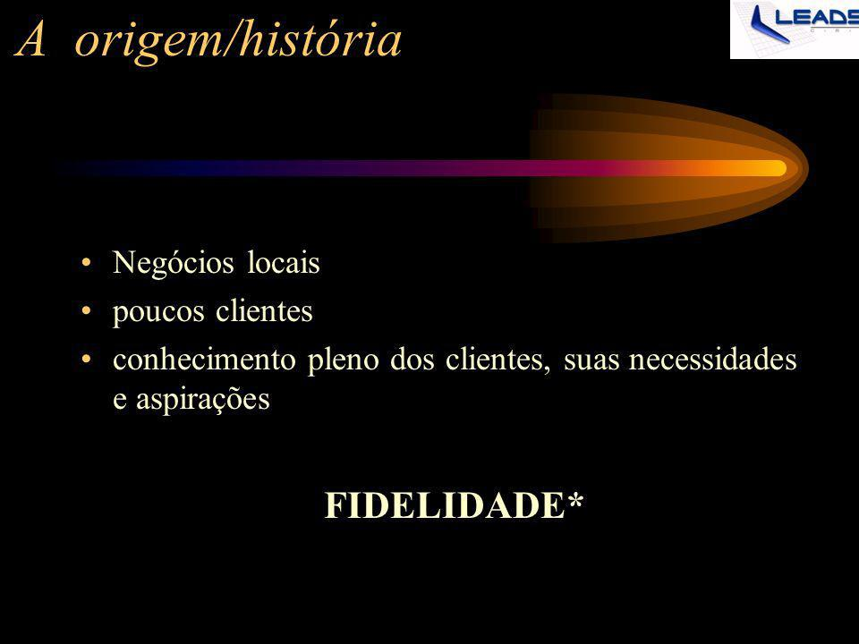 A origem/história Negócios locais poucos clientes