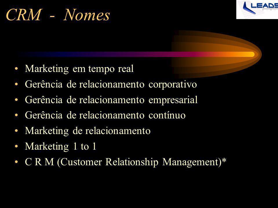 CRM - Nomes Marketing em tempo real
