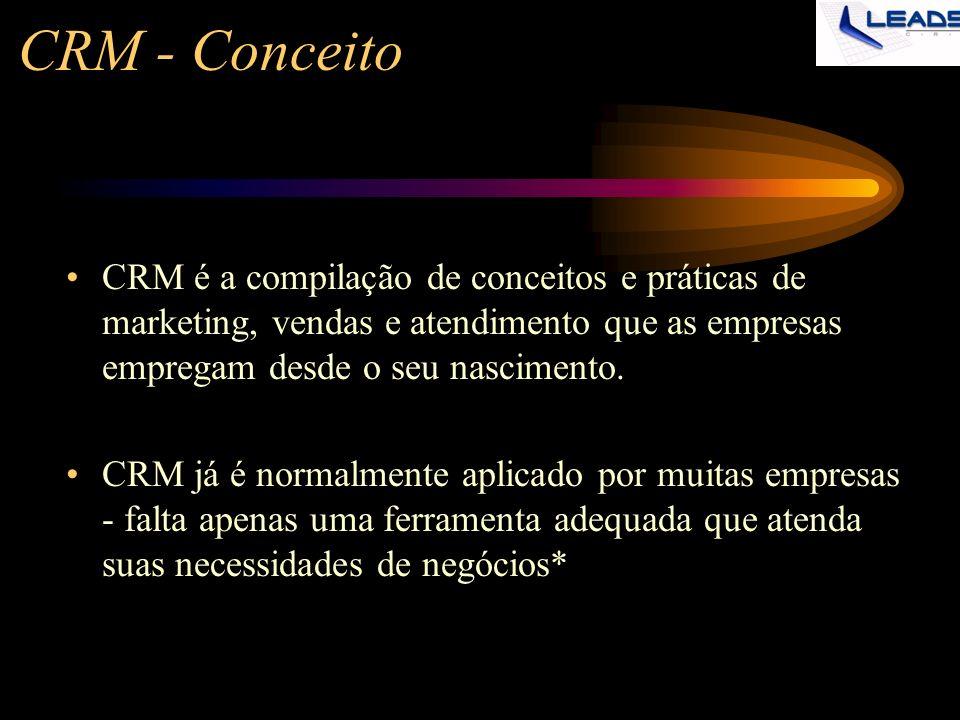 CRM - Conceito CRM é a compilação de conceitos e práticas de marketing, vendas e atendimento que as empresas empregam desde o seu nascimento.