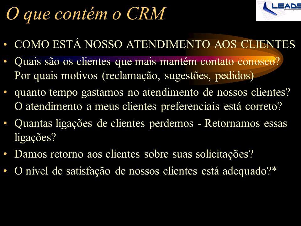 O que contém o CRM COMO ESTÁ NOSSO ATENDIMENTO AOS CLIENTES