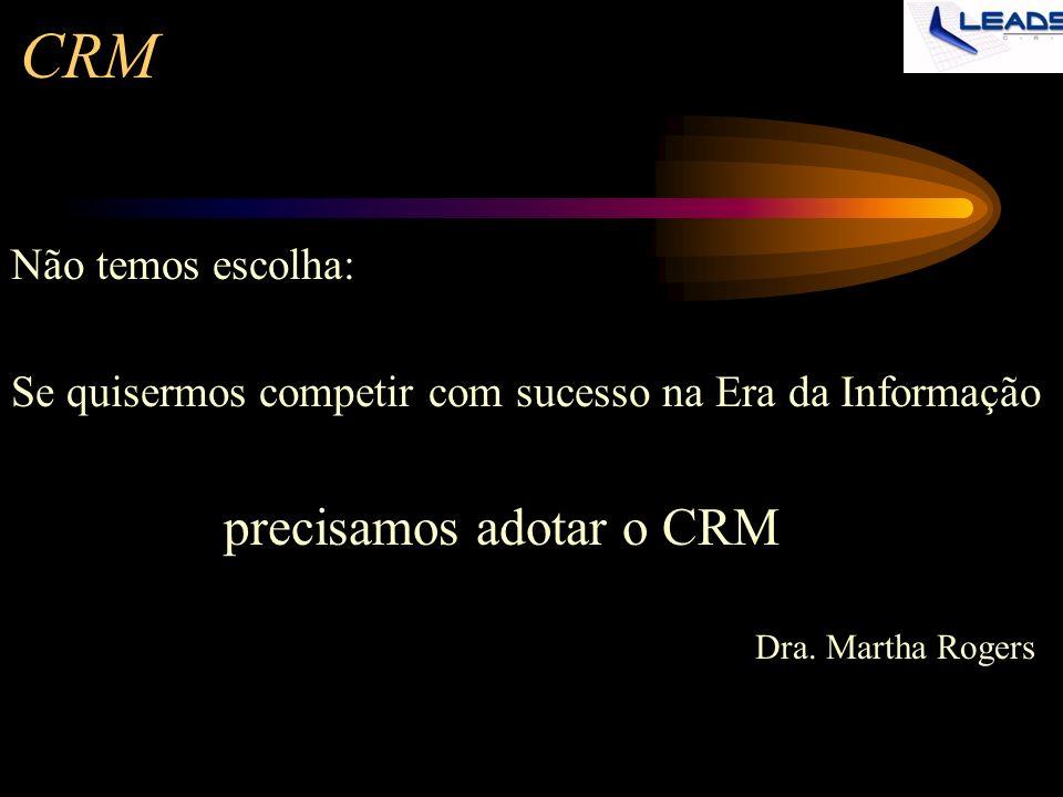 CRM precisamos adotar o CRM Não temos escolha: