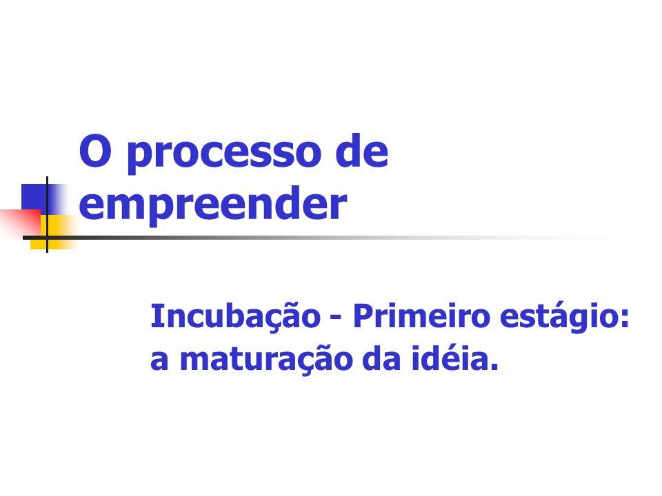 O processo de empreender