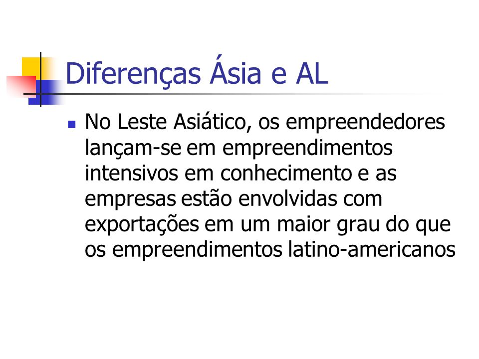Diferenças Ásia e AL