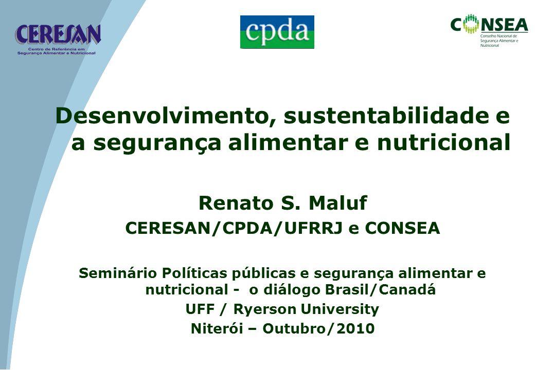CERESAN/CPDA/UFRRJ e CONSEA UFF / Ryerson University