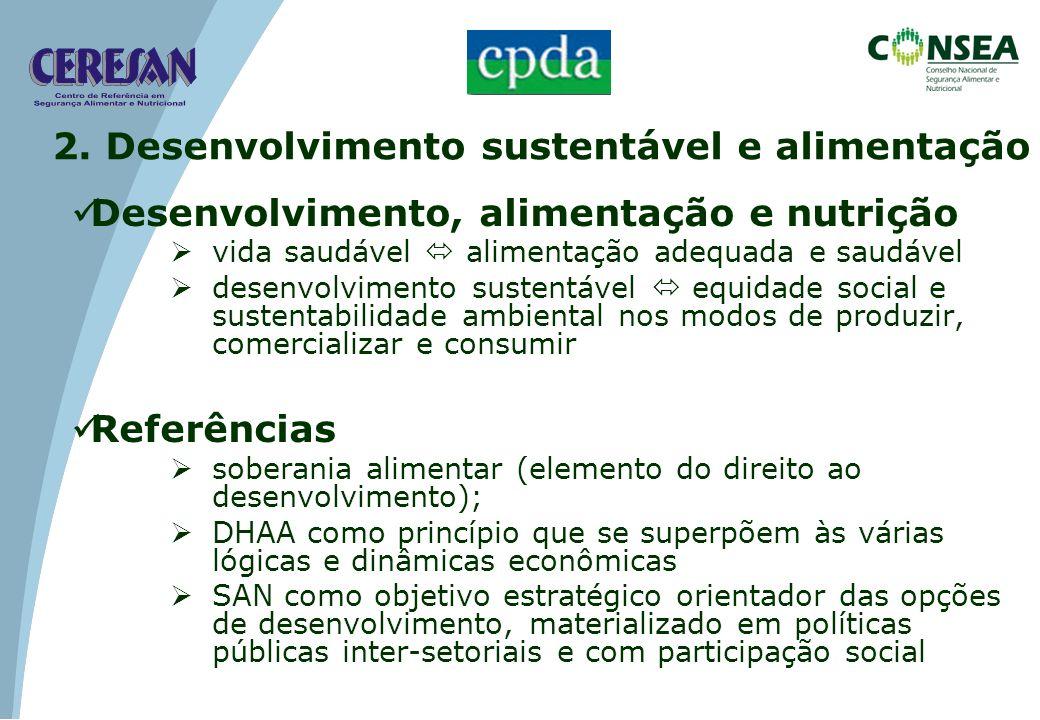 2. Desenvolvimento sustentável e alimentação