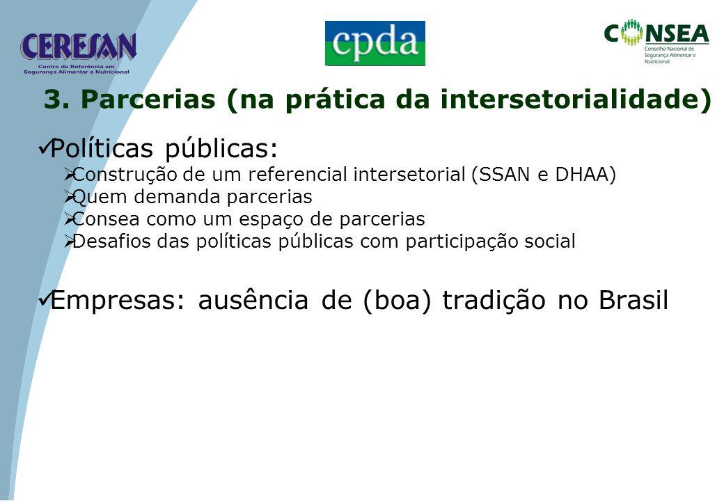 3. Parcerias (na prática da intersetorialidade)