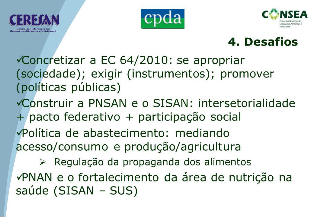 PNAN e o fortalecimento da área de nutrição na saúde (SISAN – SUS)