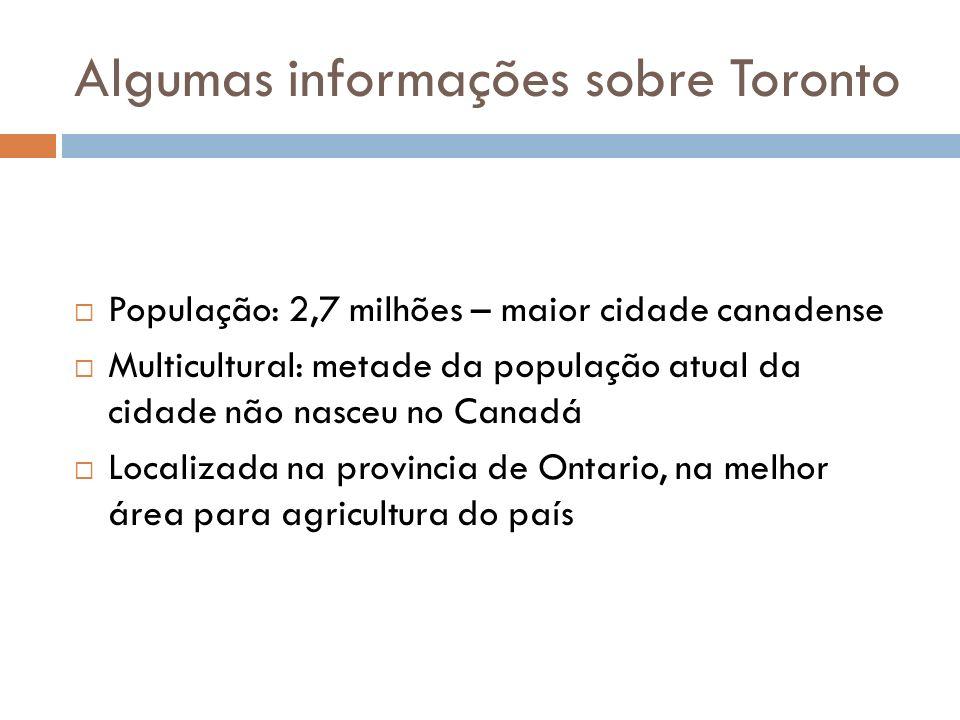 Algumas informações sobre Toronto