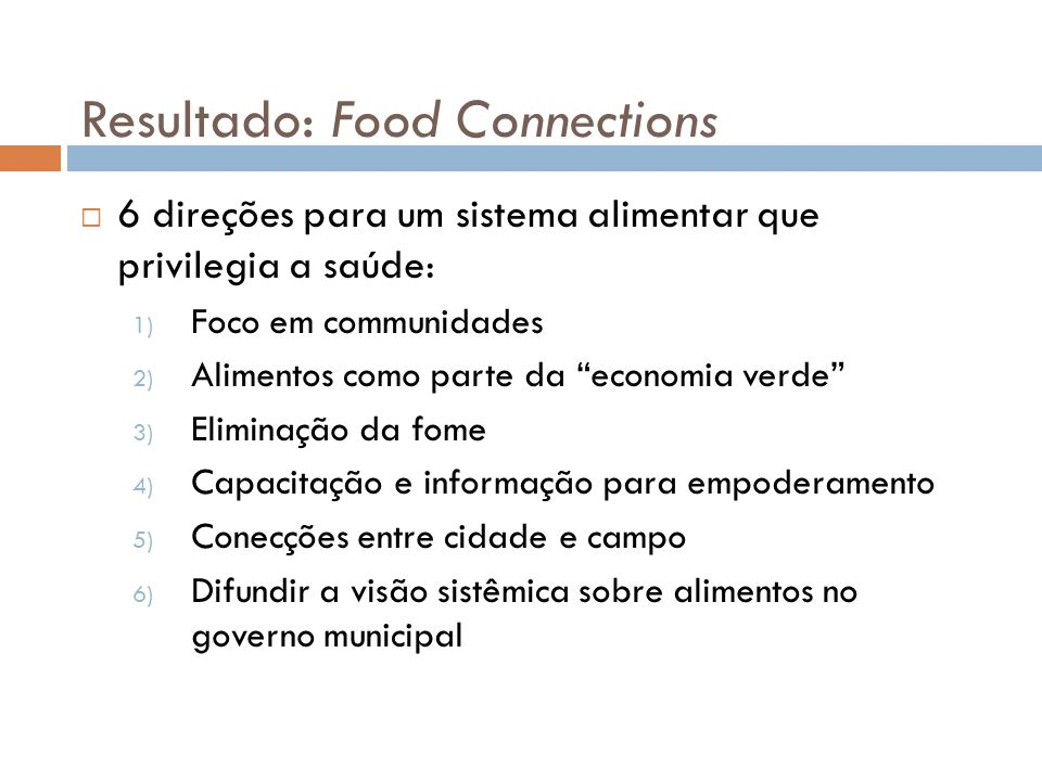 Resultado: Food Connections