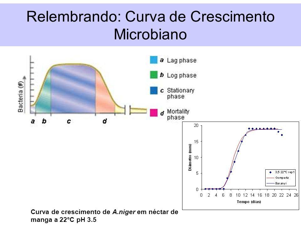 Relembrando: Curva de Crescimento Microbiano