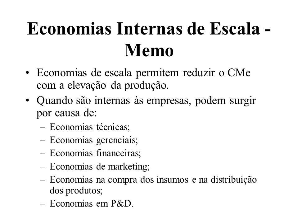 Economias Internas de Escala - Memo