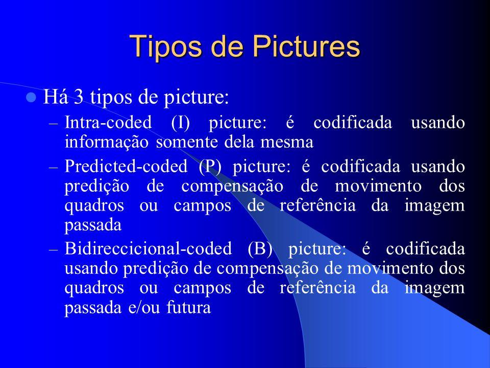 Tipos de Pictures Há 3 tipos de picture: