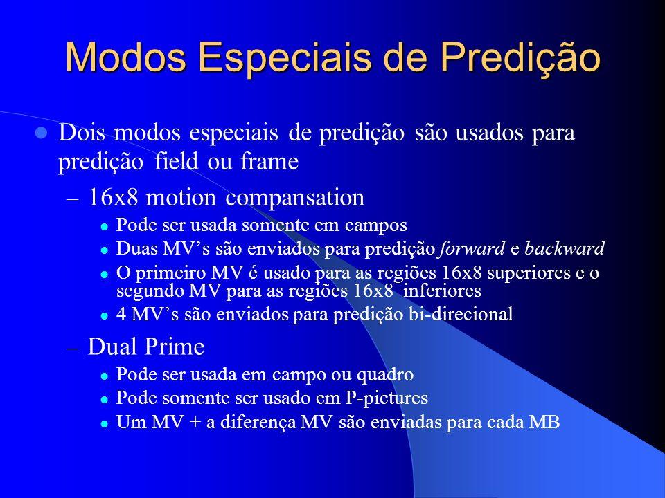 Modos Especiais de Predição
