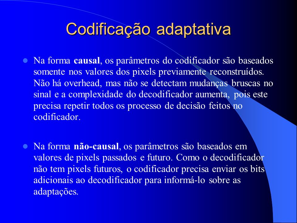 Codificação adaptativa