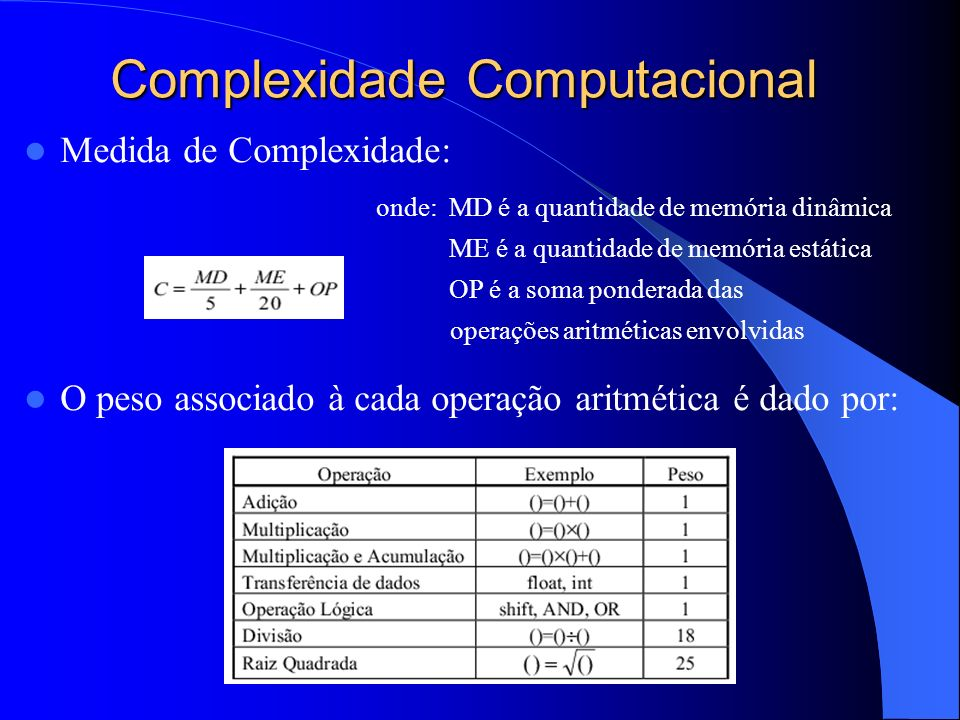 Complexidade Computacional