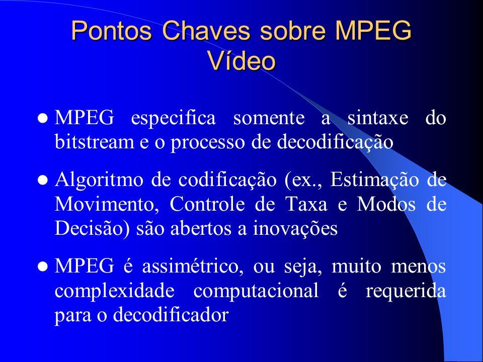 Pontos Chaves sobre MPEG Vídeo