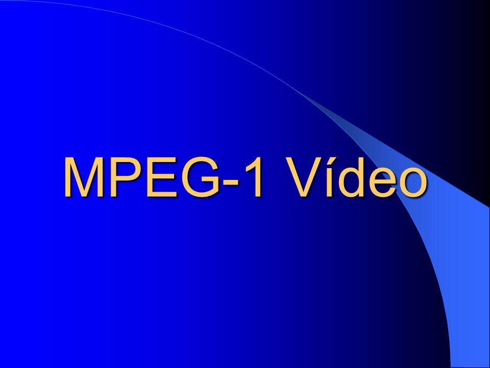 MPEG-1 Vídeo