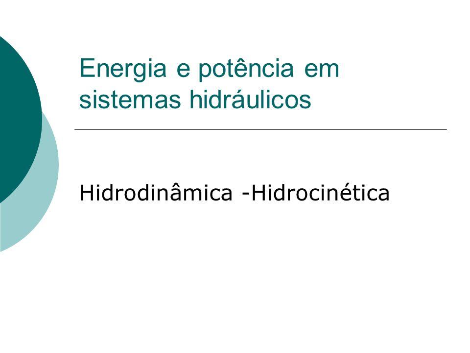 Energia e potência em sistemas hidráulicos