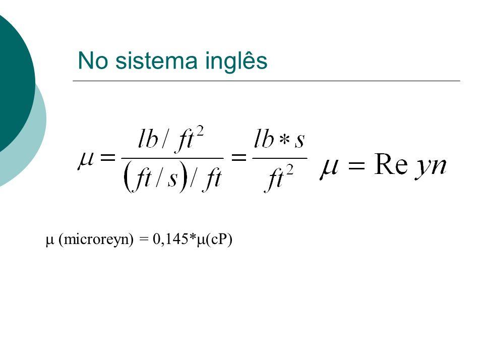 No sistema inglês m (microreyn) = 0,145*m(cP)