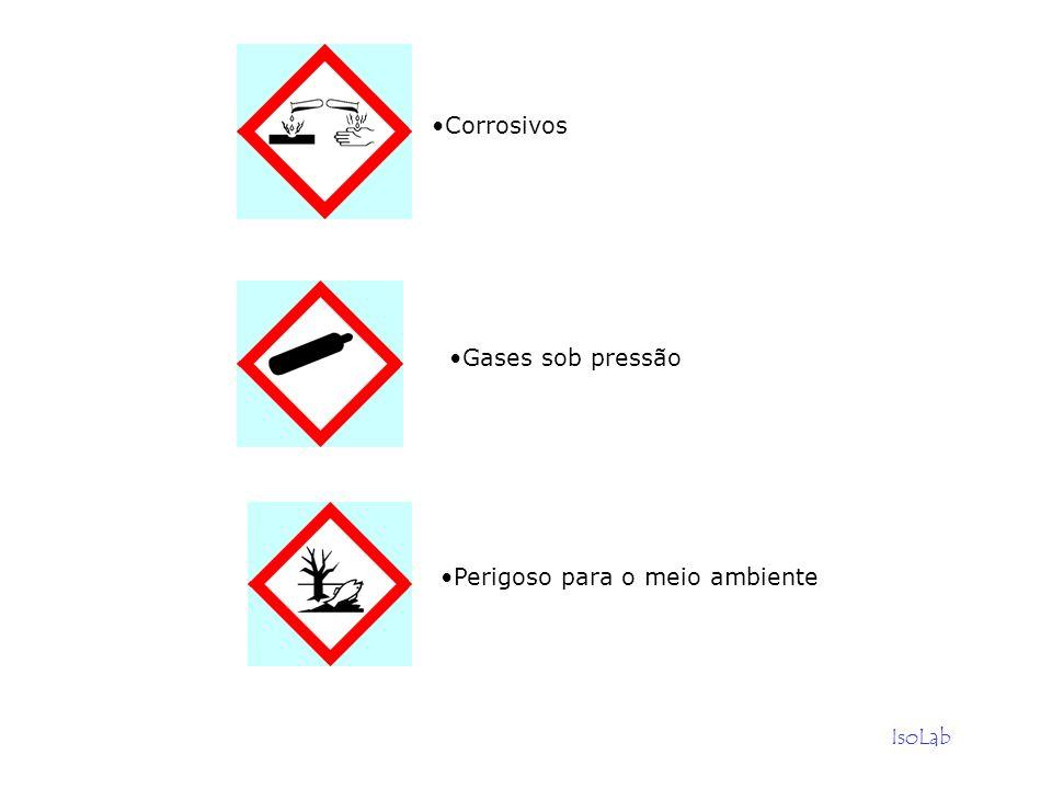 Corrosivos Gases sob pressão Perigoso para o meio ambiente IsoLab