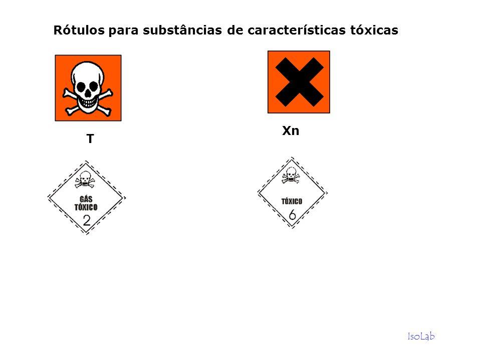 Rótulos para substâncias de características tóxicas