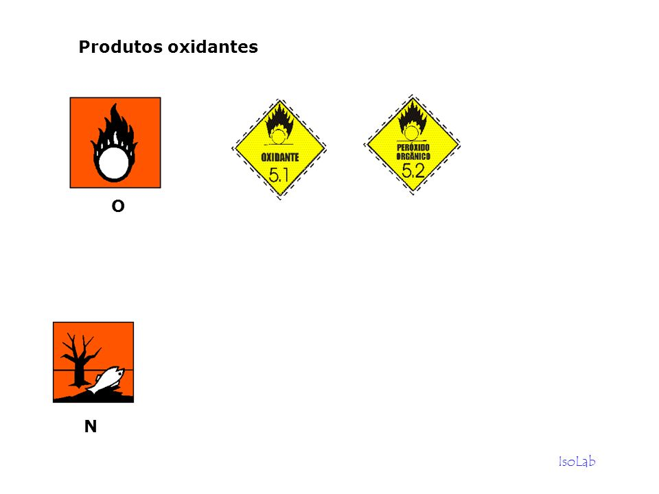 Produtos oxidantes O N IsoLab
