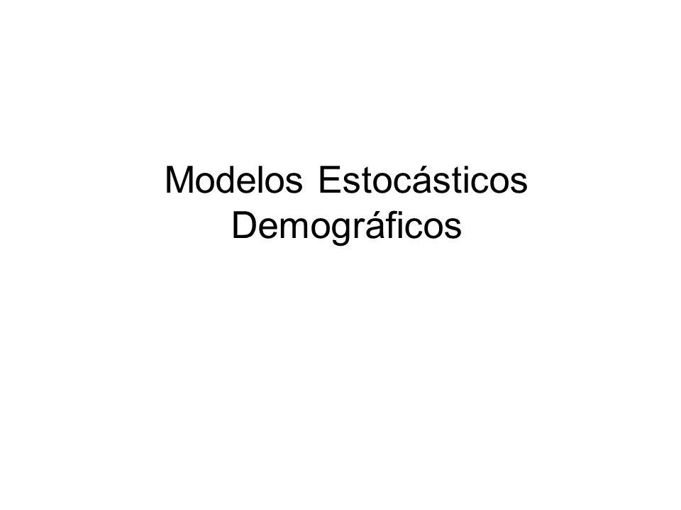 Modelos Estocásticos Demográficos