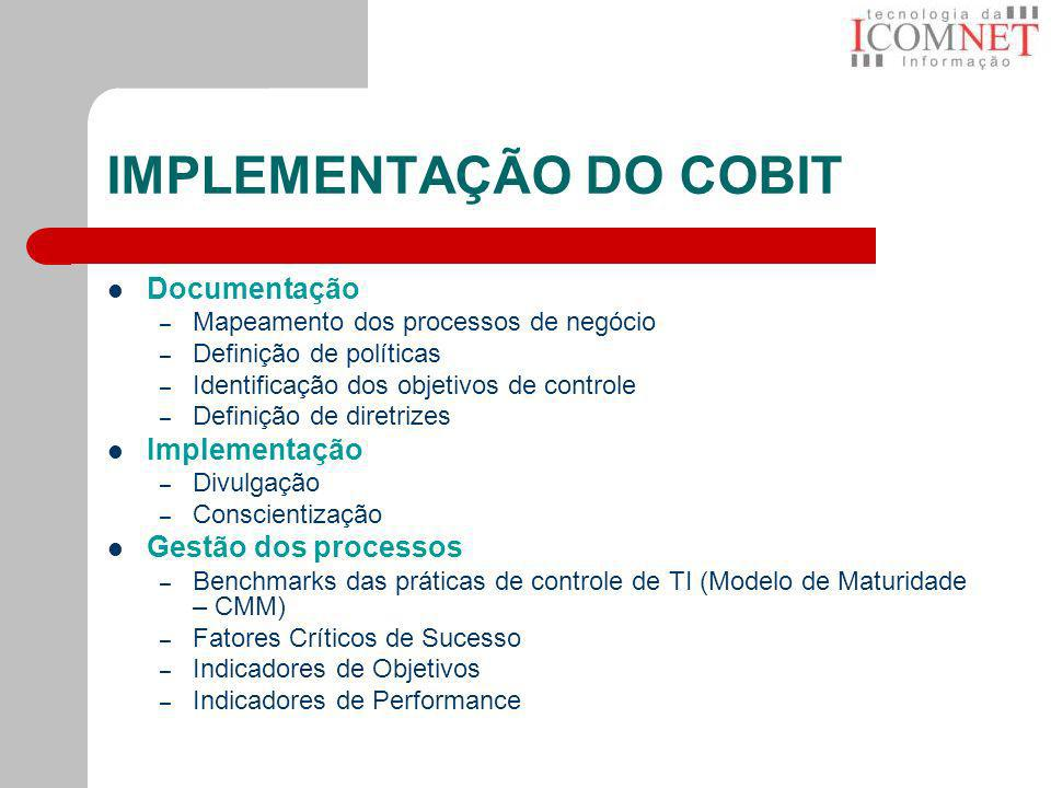 IMPLEMENTAÇÃO DO COBIT