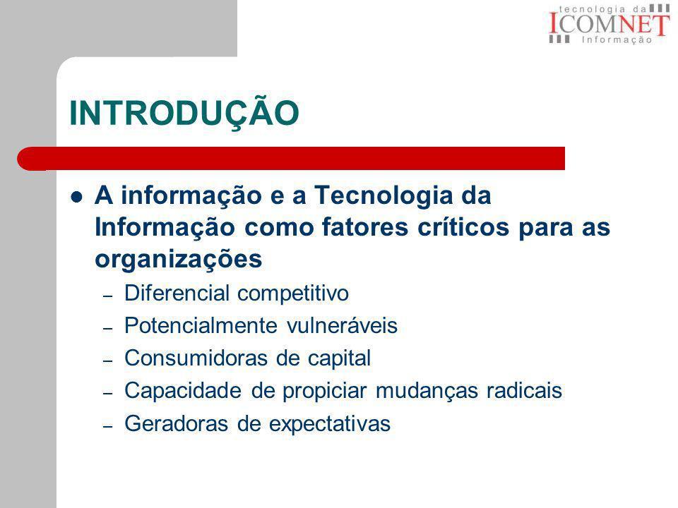 INTRODUÇÃOA informação e a Tecnologia da Informação como fatores críticos para as organizações. Diferencial competitivo.