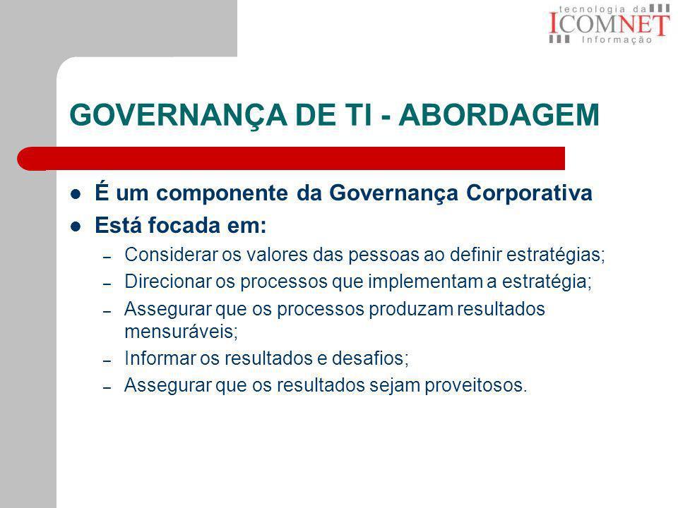 GOVERNANÇA DE TI - ABORDAGEM