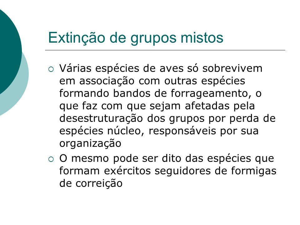 Extinção de grupos mistos