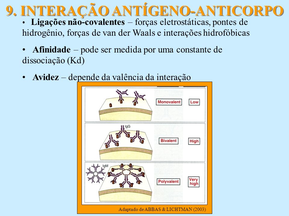 9. INTERAÇÃO ANTÍGENO-ANTICORPO