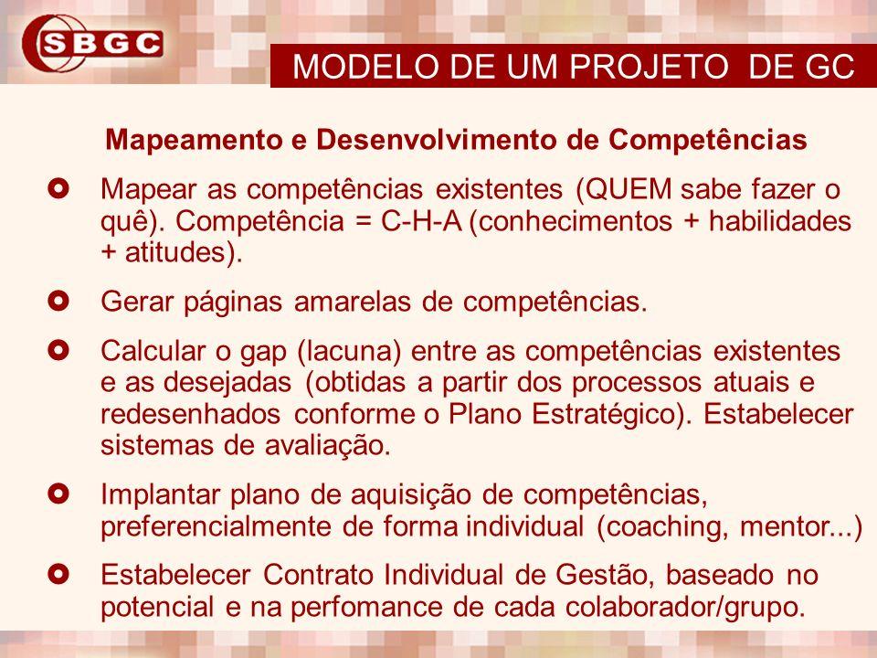 Mapeamento e Desenvolvimento de Competências