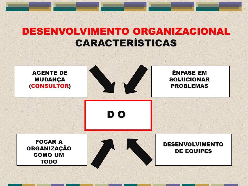 DESENVOLVIMENTO ORGANIZACIONAL CARACTERÍSTICAS