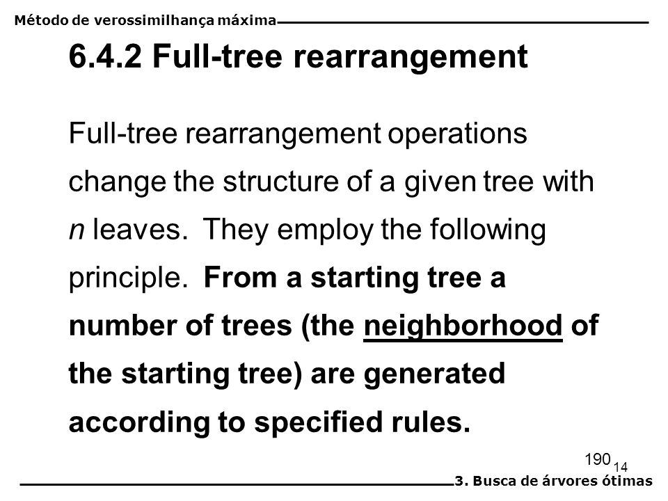 6.4.2 Full-tree rearrangement