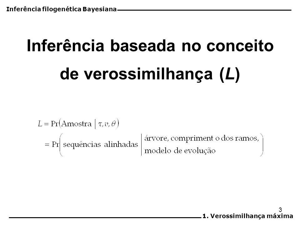 Inferência baseada no conceito de verossimilhança (L)