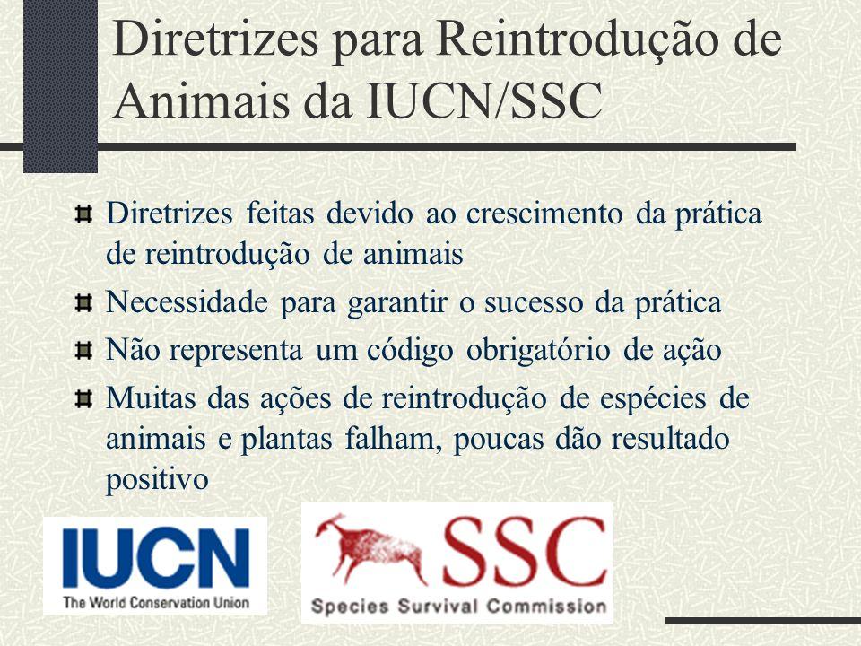 Diretrizes para Reintrodução de Animais da IUCN/SSC